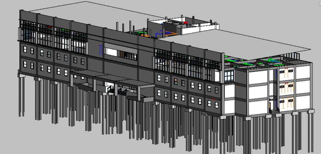 Depot Adminstration Building 3D View 1