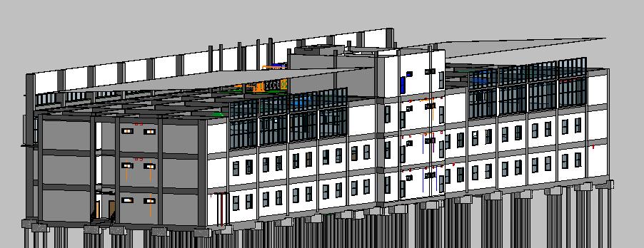 Depot Adminstration Building 3D View 2