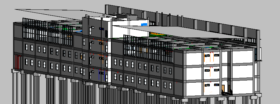 Depot Adminstration Building 3D View 3