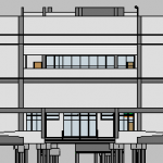 Depot Adminstration Building Elevation View 1