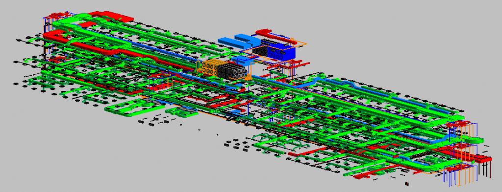 Depot Adminstration Building MEP 3D View 1