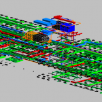 Depot Adminstration Building MEP 3D View 1