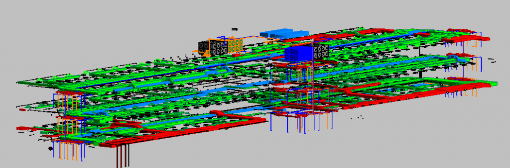 Depot Adminstration Building MEP 3D View 2