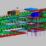 Depot Adminstration Building MEP 3D View 2