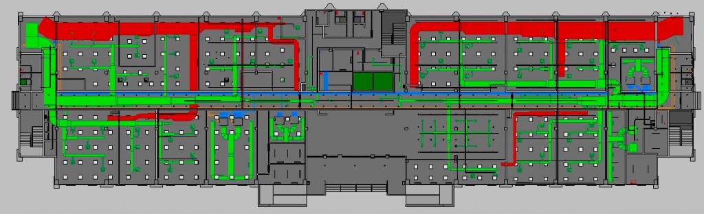 Depot Adminstration Building MEP Ground Plan View