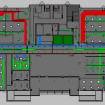 Depot Adminstration Building MEP Ground Plan View