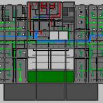 Depot Adminstration Building MEP Level 1 Plan View