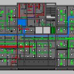 Depot Adminstration Building MEP Level 2 Plan View