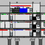 Depot Adminstration Building MEP Section View 2