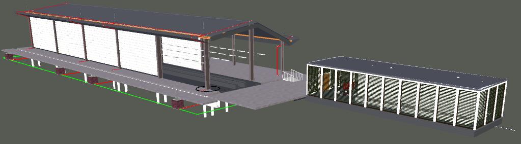 Depot Automatic Train Wash 3D View 1