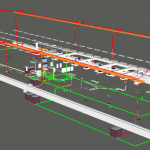 Depot Automatic Train Wash MEP 3D View 2