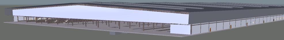 Depot Heavy Light Building 3D View 3