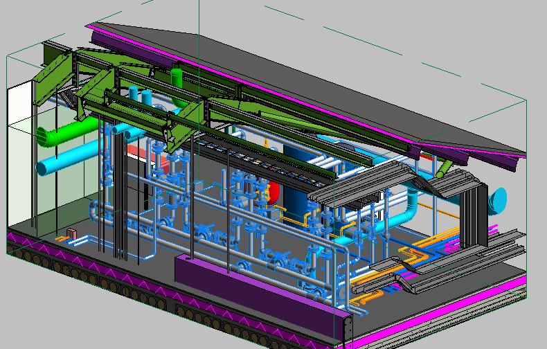 HSU MEP Header Pump Area 3D View 1