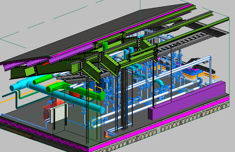 HSU MEP Header Pump Area 3D View 2