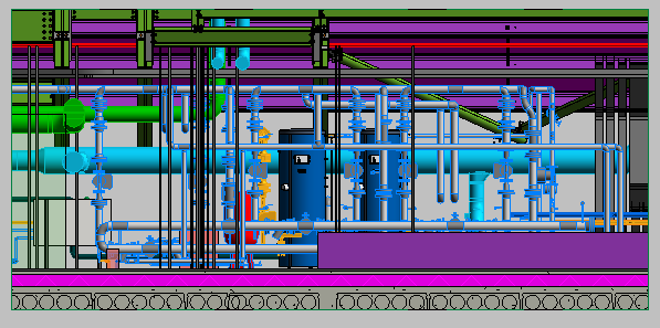 HSU MEP Header Pump Area Elevation View