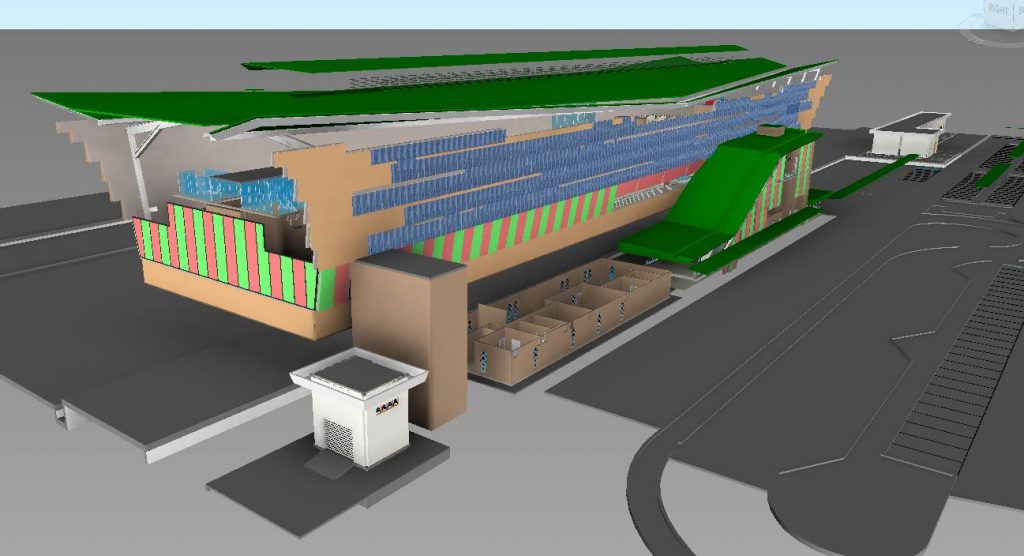 LRT3 ISLAND STATION 3D VIEW ARCHITECTURE