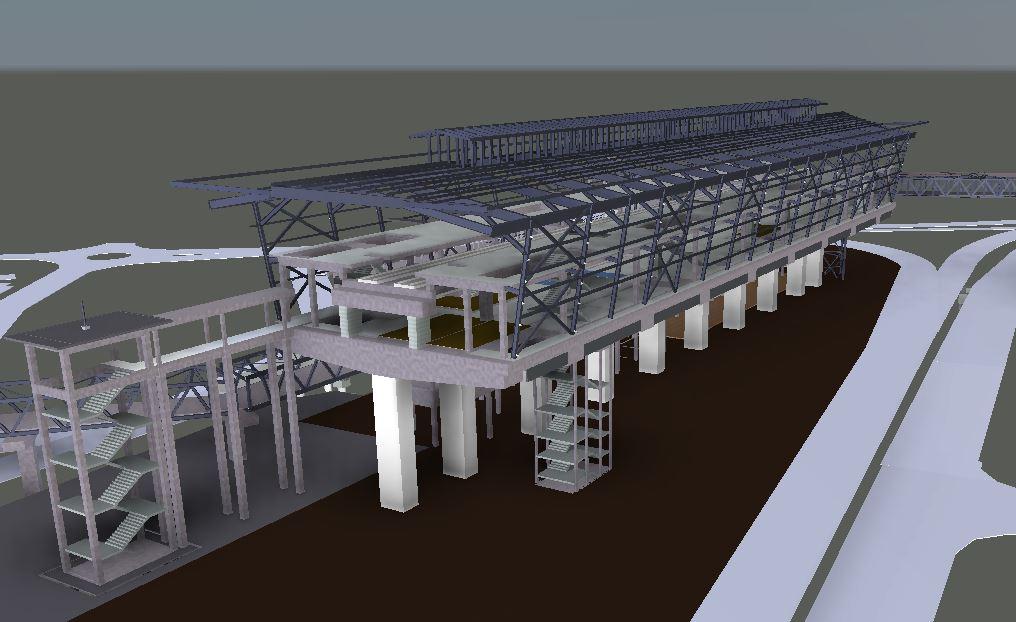 LRT3 SIDE PLATFORM STATION 3D VIEW2 STRUCTURE