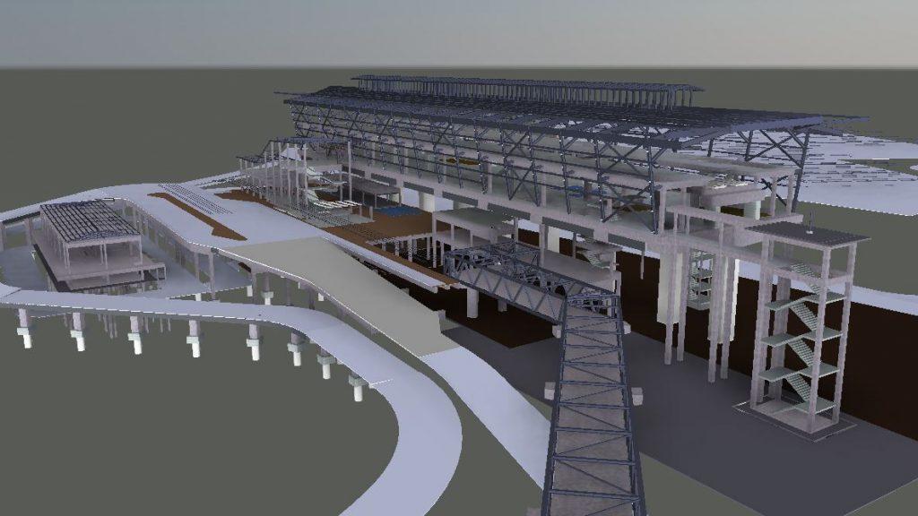 LRT3 SIDE PLATFORM STATION 3D VIEW STRUCTURE
