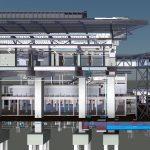 LRT3 SIDE PLATFORM STATION ELEVATION VIEW