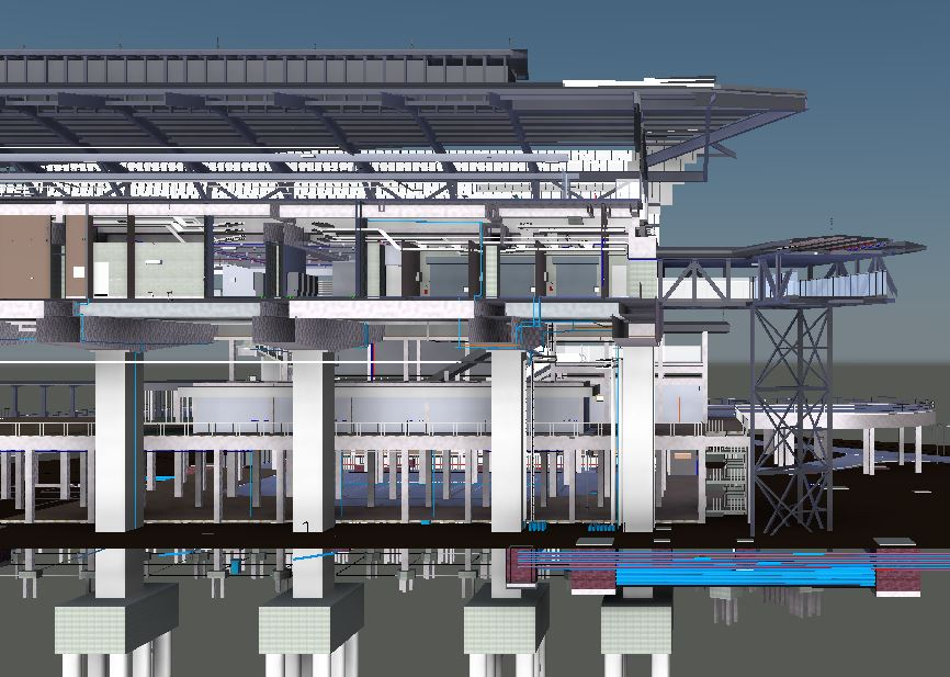 LRT3 SIDE PLATFORM STATION ELEVATION VIEW