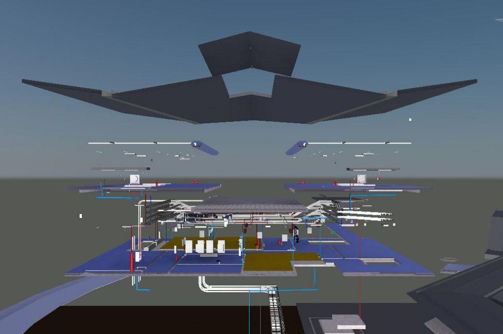 LRT3 SIDE PLATFORM STATION ELEVATION VIEW2 MEP
