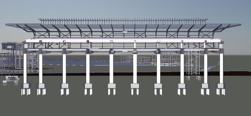 LRT3 SIDE PLATFORM STATION ELEVATION VIEW2 STRUCTURE
