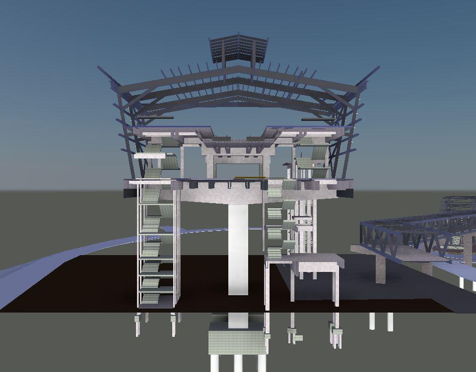 LRT3 SIDE PLATFORM STATION RIGHT VIEW