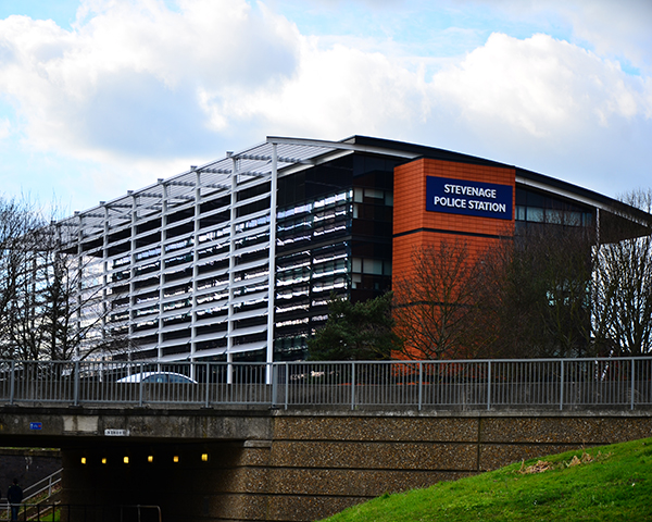 Stevenage Police Station Hertfordshire UK